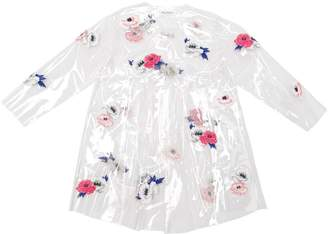 Embroidered Transparent Pvc Raincoat