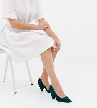 Asos Design DESIGN Wide Fit Weather mid heels