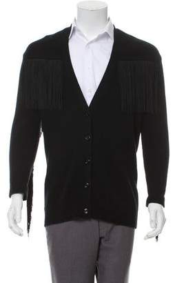 Gucci 2016 Fringe Wool Cardigan