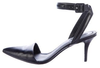 Alexander Wang Pointed-Toe Ankle-Strap Lucie Pumps