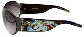 Ed Hardy Battle Sunglasses Ehs-011 Gunmetal Gradient