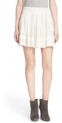 IRO Ginny Lattice Inset Miniskirt $350 thestylecure.com