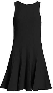 Emporio Armani Women's Fit-&-Flare Sleeveless Wool Dress