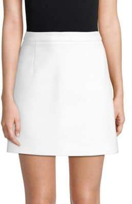 Michael Kors Cotton Crepe Mini Skirt