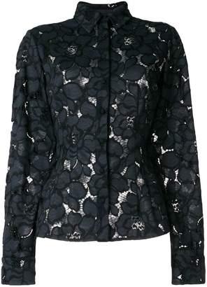 Talbot Runhof lotus lace shirt