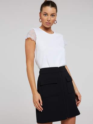 Portmans Australia Do Me Justice Mini Zip Skirt