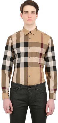 Macro Checked Cotton Shirt $295 thestylecure.com
