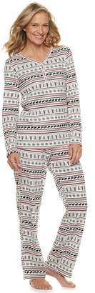 Croft & Barrow Women's Textured Henley Pajama Set