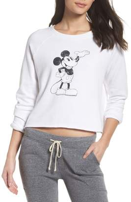 David Lerner Mickey Mouse Crop Sweatshirt