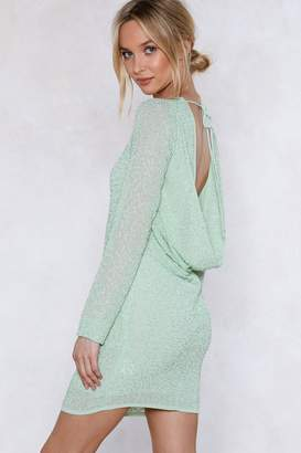 Nasty Gal Drop Back Beaded Dress