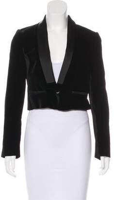 Dolce & Gabbana Velvet Cropped Blazer w/ Tags
