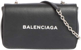 Balenciaga Logo Leather Wallet on Chain