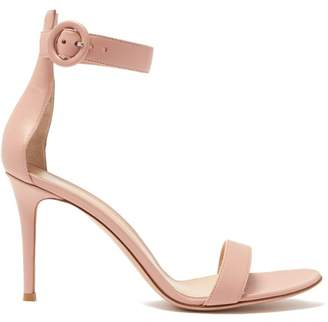 ff36ef42c6b Gianvito Rossi Portofino 85 Leather Sandals - Womens - Nude