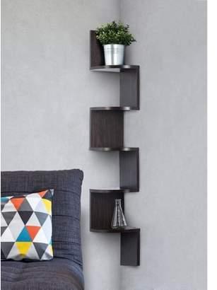 Homeitus Corner shelf - Espresso Finish corner shelf unit - 5 Tier corner shelves