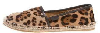 Gucci Leopard Ponyhair Espadrilles