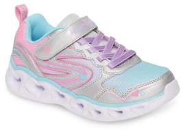 Skechers Heart Lights Light-Up Glitter Sneaker