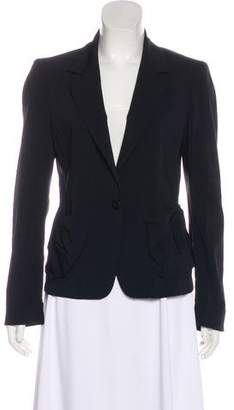 Donna Karan Notch-Lapel Structured Blazer
