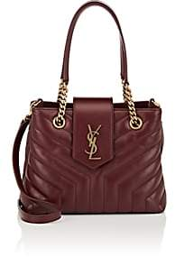 Saint Laurent Women's Monogram Loulou Small Leather Shoulder Bag - Red