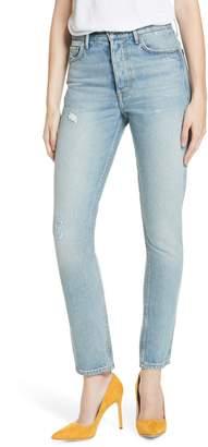 GRLFRND Karolina Patched High Waist Skinny Jeans