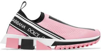 Dolce & Gabbana Sorrento Logo-print Mesh Sneakers - Pink