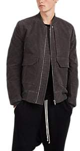 Rick Owens Men's Cotton Moleskin Flight Jacket - Charcoal
