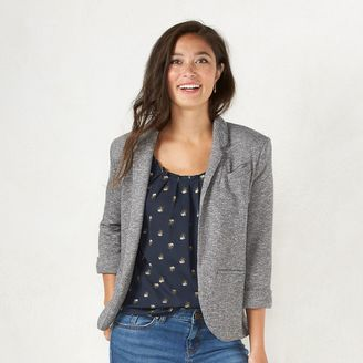 Women's LC Lauren Conrad French Terry Blazer $64 thestylecure.com