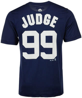 Majestic Men Aaron Judge New York Yankees Cool Base Name and Number T-Shirt