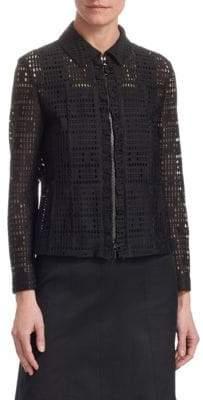 Akris Punto Ruffle-Front Lace Jacket