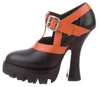 Miu Miu Ankle Strap Leather Pumps w/ Tags