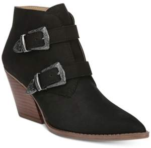 Franco Sarto Granton Block-Heel Pointed-Toe Ankle Booties Women's Shoes