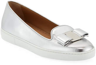Salvatore Ferragamo Novello Bow Slip-On Sneakers
