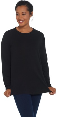 Denim & Co. Essentials Crew Neck Long-Sleeve Knit Top