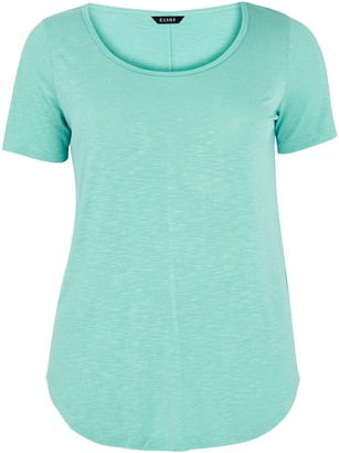 Evans Aqua Scoop Neck T-Shirt