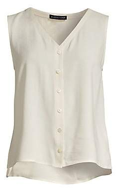 Eileen Fisher Women's Silk Button Blouse