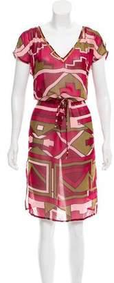 Matthew Williamson Printed Silk Midi Dress