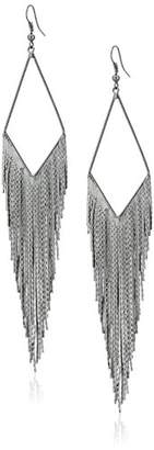 "GUESS Basic"" Fringe Linear Drop Earrings"