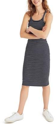 Madewell Striped Racerback Midi Dress