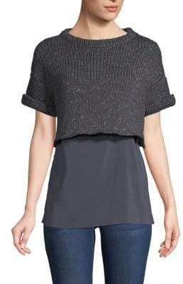 Brunello Cucinelli Double Layer Sweater Top