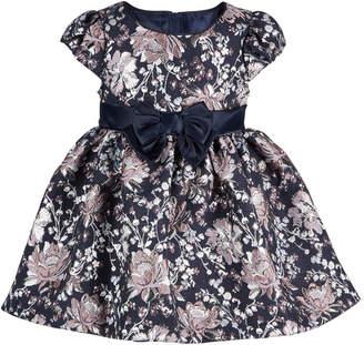 Bonnie Baby Baby Girls Floral-Brocade Dress