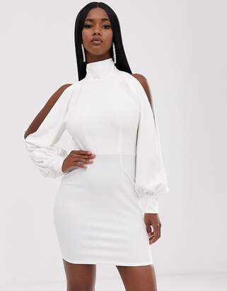 Asos Design DESIGN seamed halter drape mini dress