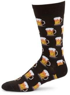 Hot Sox Beer Mug Socks