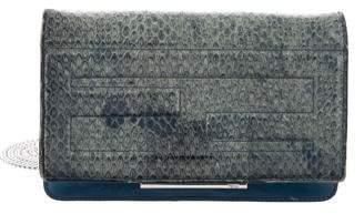 Fendi Snakeskin Wallet on Chain Bag