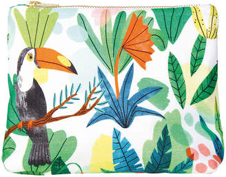 K Levering &Klevering - Bodil Toucan Wash Bag/Clutch - Cotton - Small