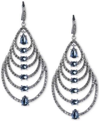 Carolee Silver-Tone Graduated Teardrop Stone Drop Earrings