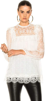 Zimmermann Meridian Circle Lace Top $590 thestylecure.com
