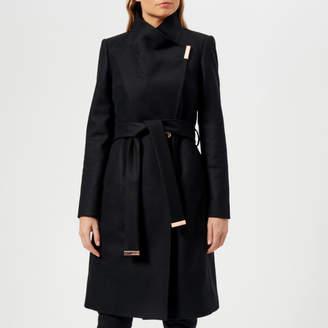 Ted Baker Women's Sandra Long Wool Wrap Coat