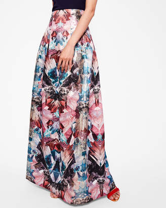 Ted Baker FRELAN Mirrored Minerals maxi skirt