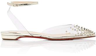 Christian Louboutin Women's Spikoo PVC & Specchio Leather Sandals