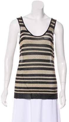 Rag & Bone Metallic Striped Sleeveless Knit Top