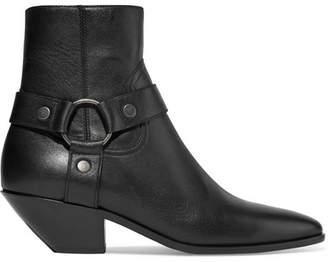 Saint Laurent West Leather Ankle Boots - Black